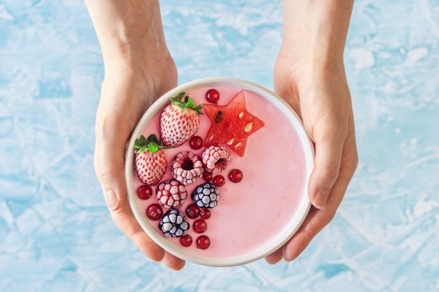 Many smoothie bowls contain more servings of fruit than you'd ever imagine eating if they weren't blended