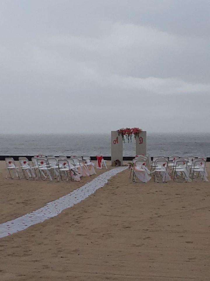The original wedding setup.
