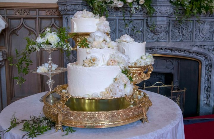 The wedding cake for the Duke and Duchess of Sussex, created by Claire Ptak.