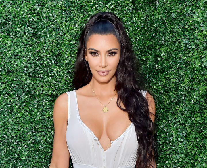 Kim Kardashian attends KKW Beauty Fan Event.