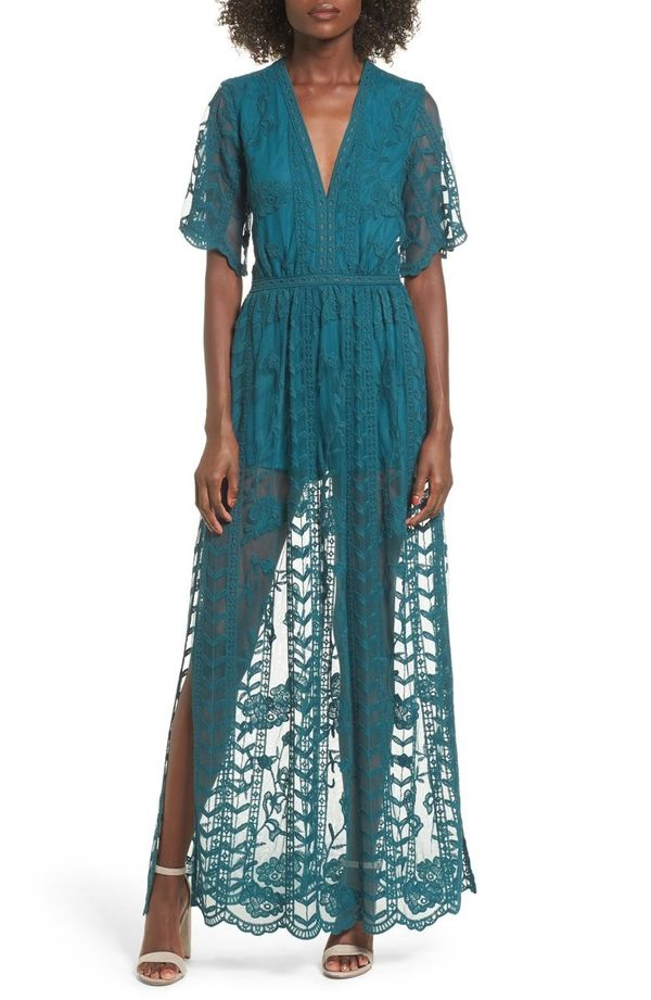 "<strong>Sizes</strong>: XS to 2X<br>Get the <a href=""https://shop.nordstrom.com/s/socialite-lace-overlay-romper/4553554?origi"