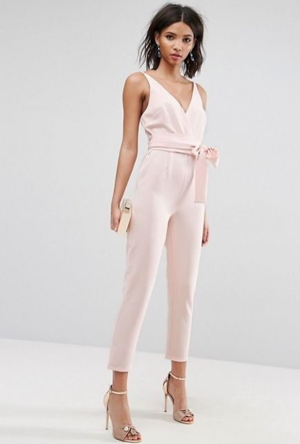 "<strong>Sizes</strong>: 0 to 14<br>Get the <a href=""http://us.asos.com/asos/asos-design-wrap-front-jumpsuit-with-peg-leg-and-"