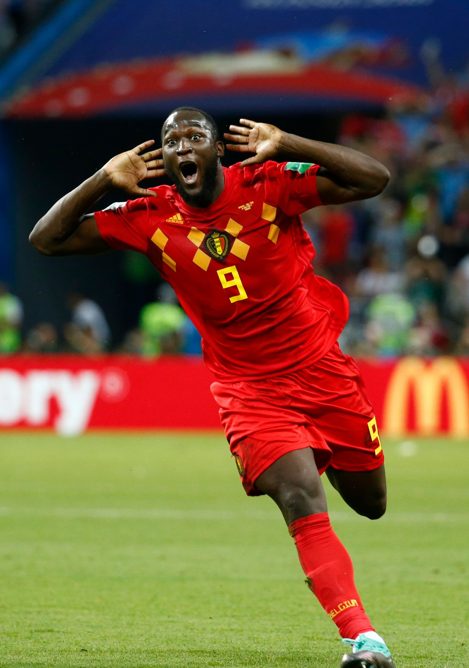 Kazan, Russia - July 6 : Romelu Lukaku forward of Belgium during the FIFA 2018 World Cup Russia Quarter-final match between Brazil and Belgium at the Kazan Arena Stadium on July 6, 2018 in Kazan, Russia, 6/07/2018 ( Photo by Jimmy Bolcina / Photonews  via Getty Images)