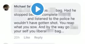 A screengrab of another comment from Michael Selyem's Facebook account.