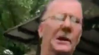 threatening man in park