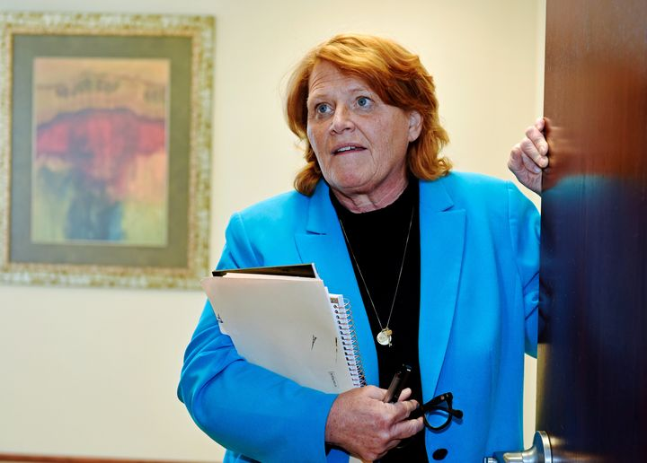 Ugh, leave me be. -- Sen. Heidi Heitkamp, probably, on ads pressuring her to support, or reject, Trump's Supreme Court nomine