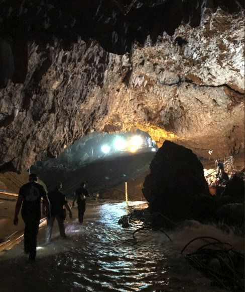 타이 치앙라이주 매사이 지역 탐 루엉 동굴 안의 모습