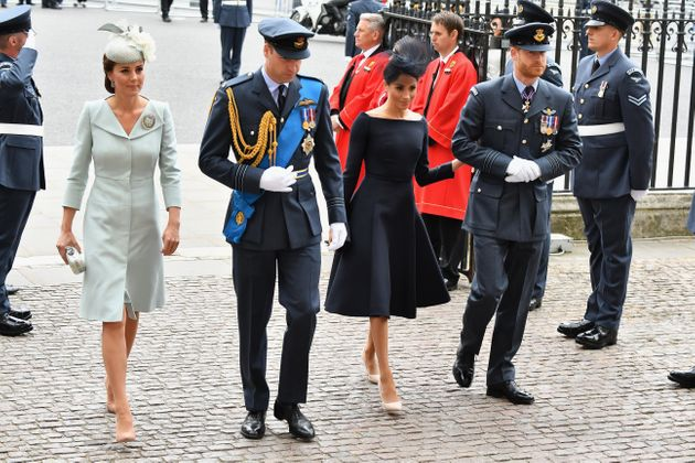 The royal fab four at the centenary of the RAF celebration on July