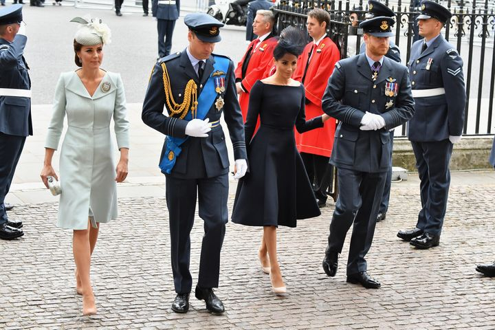 The royal fab four at the centenary of the RAF celebration on July 10.