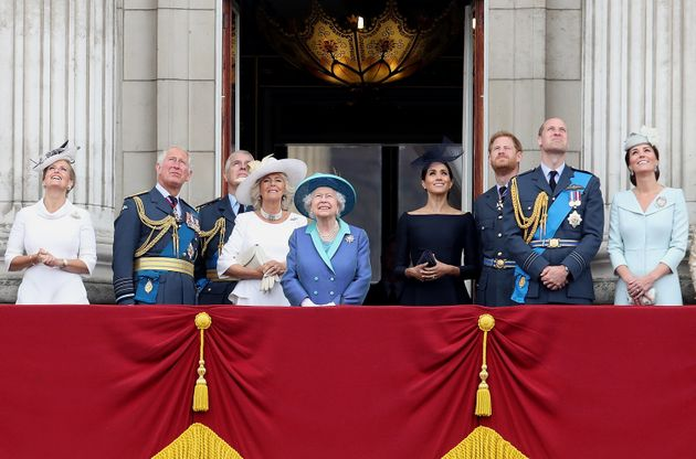 The rest of the royals watch the