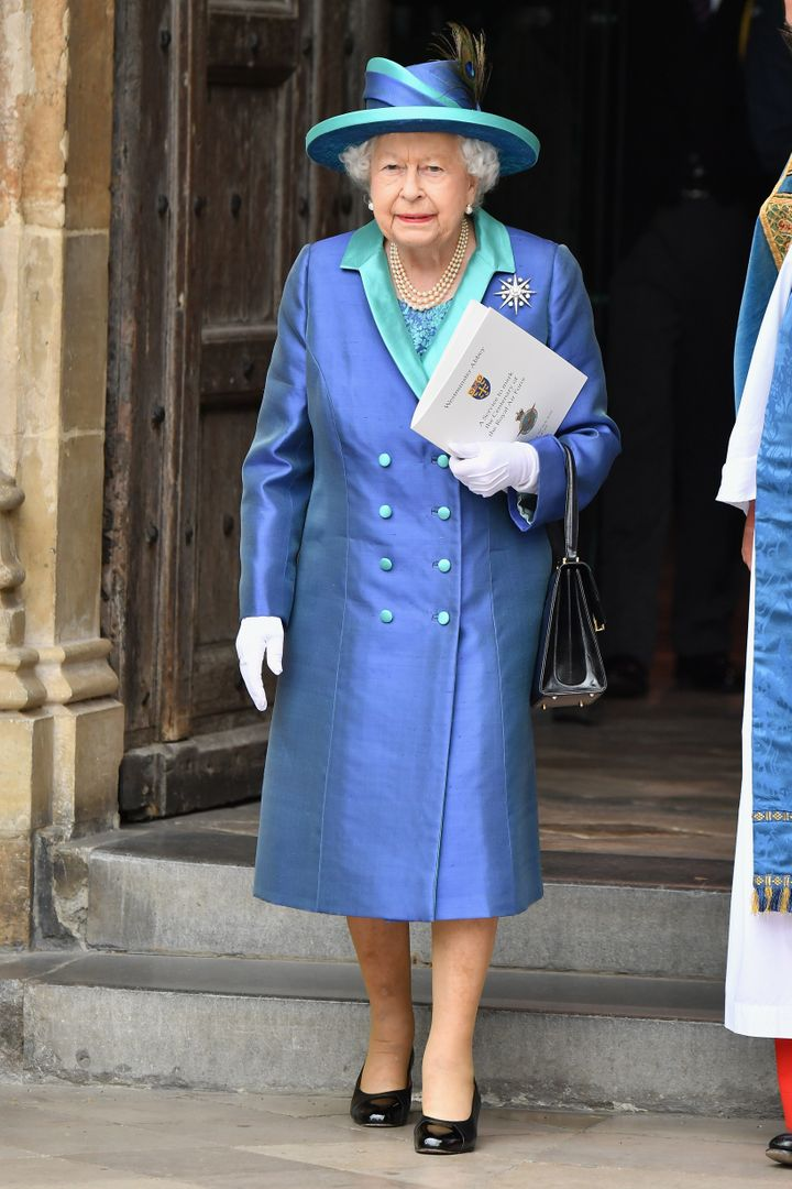Queen Elizabeth II at the RAF centenary celebration.