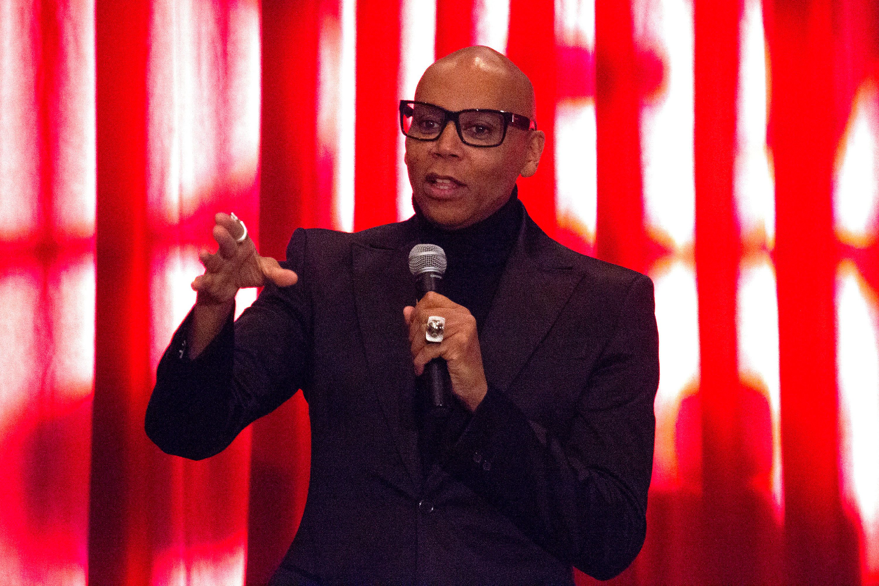 LOS ANGELES, CA - MAY 13:  RuPaul onstage during the 4th Annual RuPaul's DragCon at Los Angeles Convention Center on May 13, 2018 in Los Angeles, California.  (Photo by Santiago Felipe/FilmMagic)