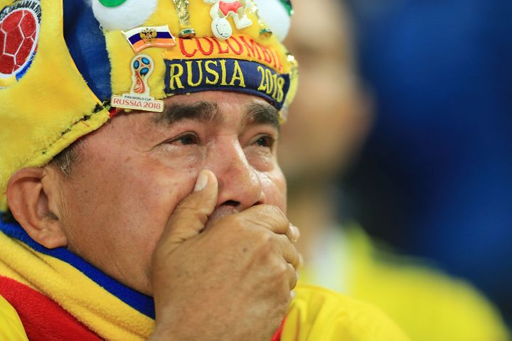 A World Cup spectator in Moscow after a match between Colombia and England, July 3.Since the start of the World Cup in