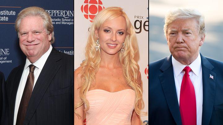 Elliott Broidy, left, Shera Bechard and Donald Trump. Broidy,a former deputy finance chairman of the Republican Nationa