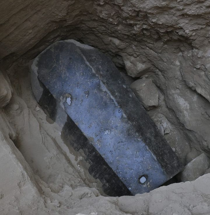 An ancient tomb dating to the Ptolemaic period in the Sidi Gaber district of Alexandria, Egypt.