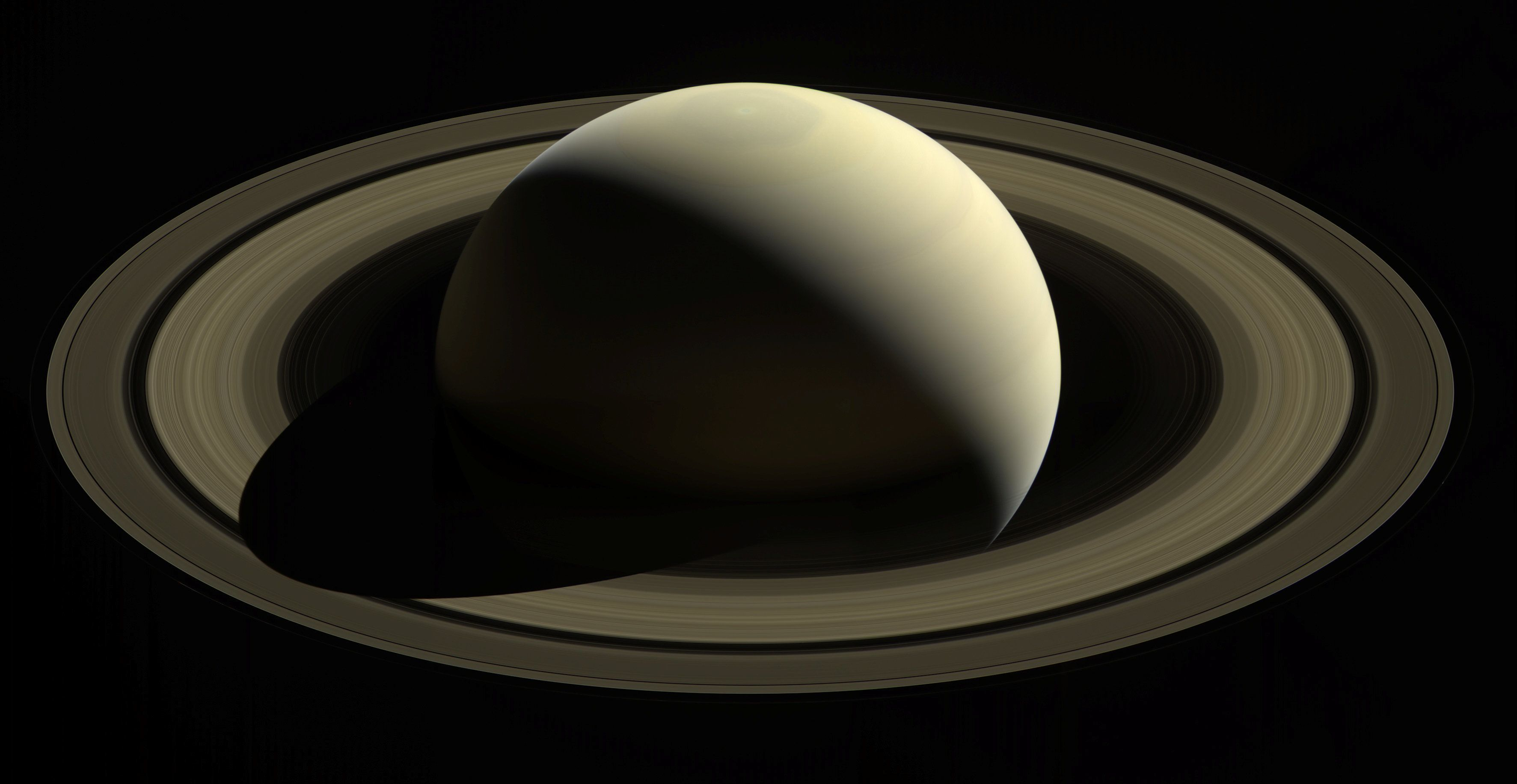 One of the last looks at Saturn and its main rings as captured by Cassini. When the spacecraft arrived at Saturn in 2004, the planet's northern hemisphere, seen here at top, was in darkness in winter. Now at journey's end, the entire north pole is bathed in sunlight of summer. Images taken October 28, 2016 and released September 11, 2017.  NASA/JPL-Caltech/Space Science Institute/Handout via REUTERS  ATTENTION EDITORS - THIS IMAGE WAS PROVIDED BY A THIRD PARTY