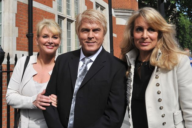 Jay (right) with her Bucks Fizz bandmates Cheryl Baker and Mike