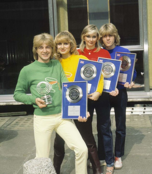 The original Bucks Fizz line-up: (Left to Right):Bobby G; Jay Aston; Cheryl Baker And Michael