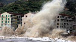 Ένας νεκρός και οχτώ τραυματίες από τον τυφώνα «Μαρία» στην Ταϊβάν. Καταστρέφει δρόμους και σπίτια στην Ανατολική
