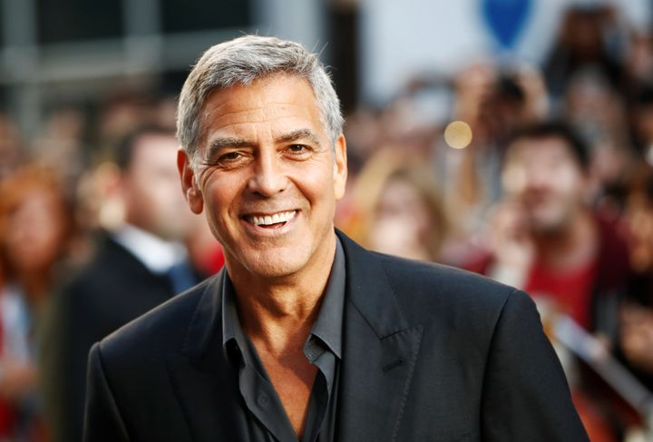 George Clooney managed to walk away from a scary scooter crash on the island of Sardinia.