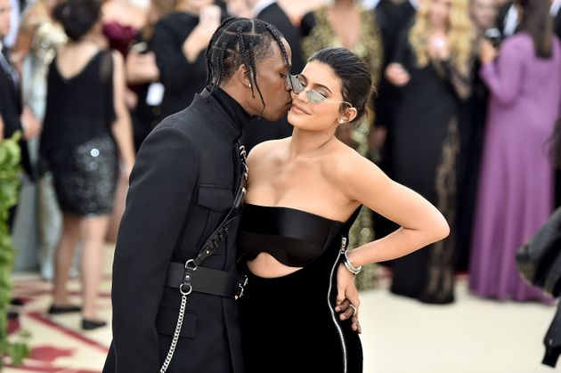 Travis Scott and Kylie Jenner attend the 2018 Met