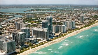 Miami Beach Coast, Florida (Photo by Hoberman Collection/UIG via Getty Images)