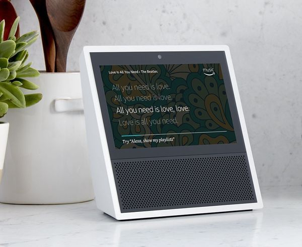 """Now through Prime Day, get an <a href=""""https://www.amazon.com/dp/B01J24C0TI/?tag=thehuffingtop-20"""" target=""""_blank"""">Echo Show"""
