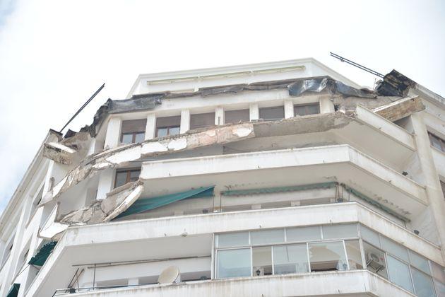 Le balcon d'un immeuble situé au coeur de Casablanca s'effondre (et c'est