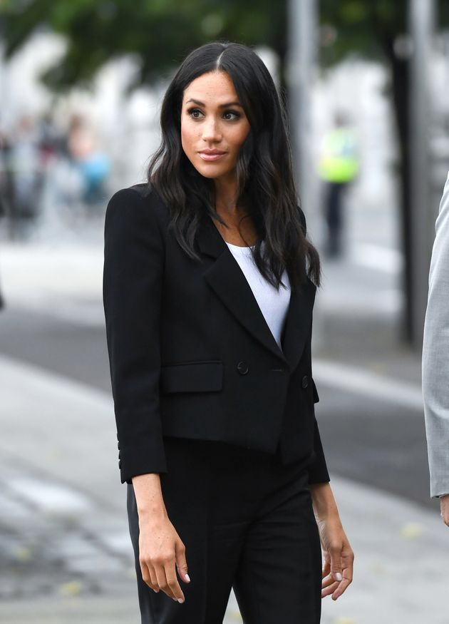 Duchess Of Sussex's Sleek Suit Will Look Familiar To Brit Royal