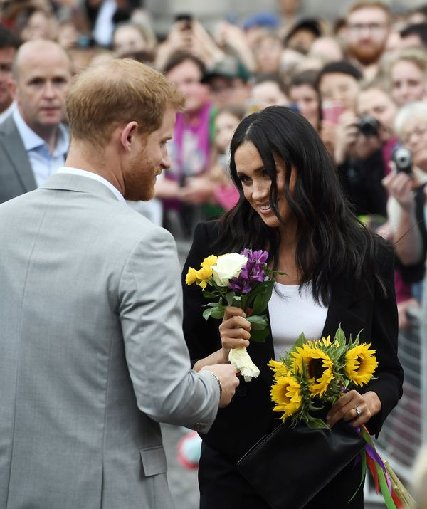 The couple visits Trinity College in Dublin on the second day of their official two-day royal visit to Ireland on July 1