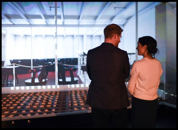 Harry and Meghan visit the Titanic Belfast on March 23 in Belfast, Northern Ireland.