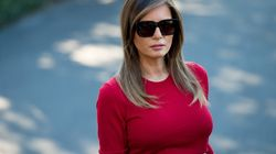 Melania Braves London Protests As Trump Watches Military