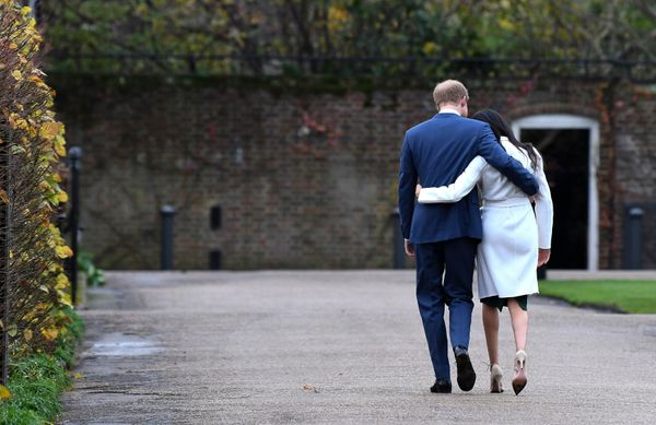 Harry and Meghan attend an official photocall to announce their engagement at the Sunken Gardens at Kensington Palace on Nov.