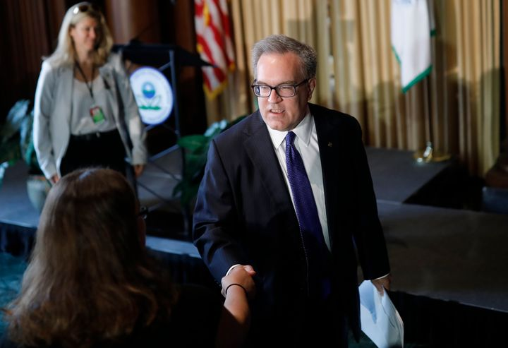 Acting EPA Administrator Andrew Wheeler addressed staffers at the agency's headquarters in Washington on July 11.