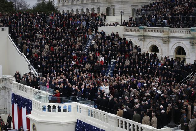 White speaksas part of Trump'sinaugural ceremony on Jan. 20,