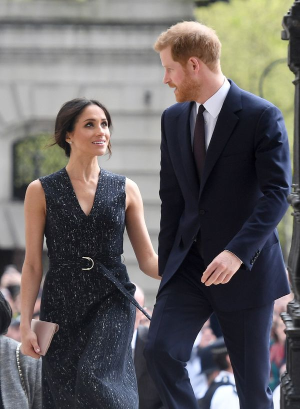 The couple arrives at a memorial service on April 23 at St. Martin-in-the-Fields church in London's Trafalgar Square to comme