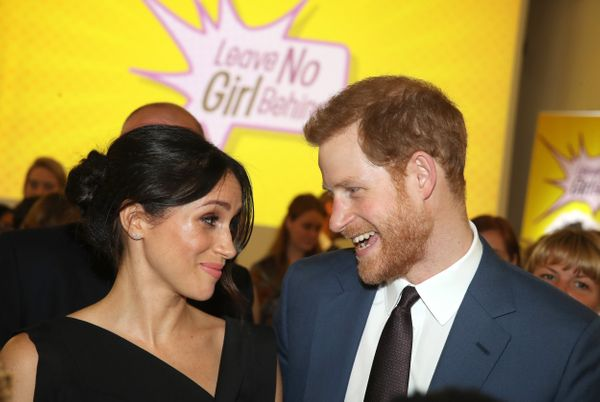 Harry and Meghan attend a women's empowerment reception at the Royal Aeronautical Society in London.