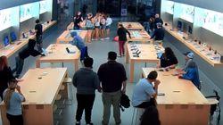애플스토어에 들이닥친 도둑들이 30초 만에 벌인
