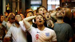 Kroatien - England: Als die Kameras die jubelnden Kroaten filmen, macht sich England lächerlich