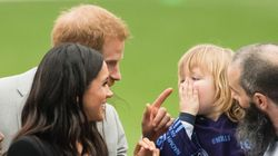 Prince Harry Playfully Wags Finger At Toddler Who Touches Meghan Markle's Hair During Dublin