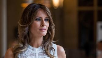 U.S. first lady Melania Trump arrives for NATO spouses dinner at the Park of the Cinquantenaire during the NATO Summit in Brussels, Belgium July 11, 2018. Stephanie Lecocq/Pool via REUTERS