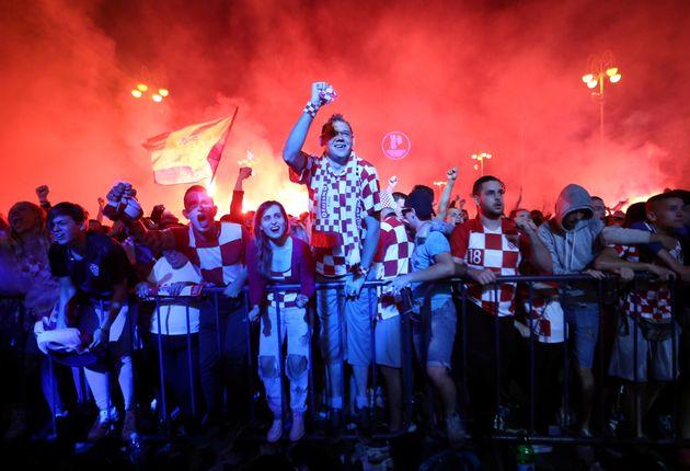 Croatie-Angleterre à la Coupe du monde: Liesse exceptionnelle à Zagreb après la...