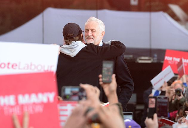 Saffiyah Khan taking part in Jeremy Corbyn's General Election rally in
