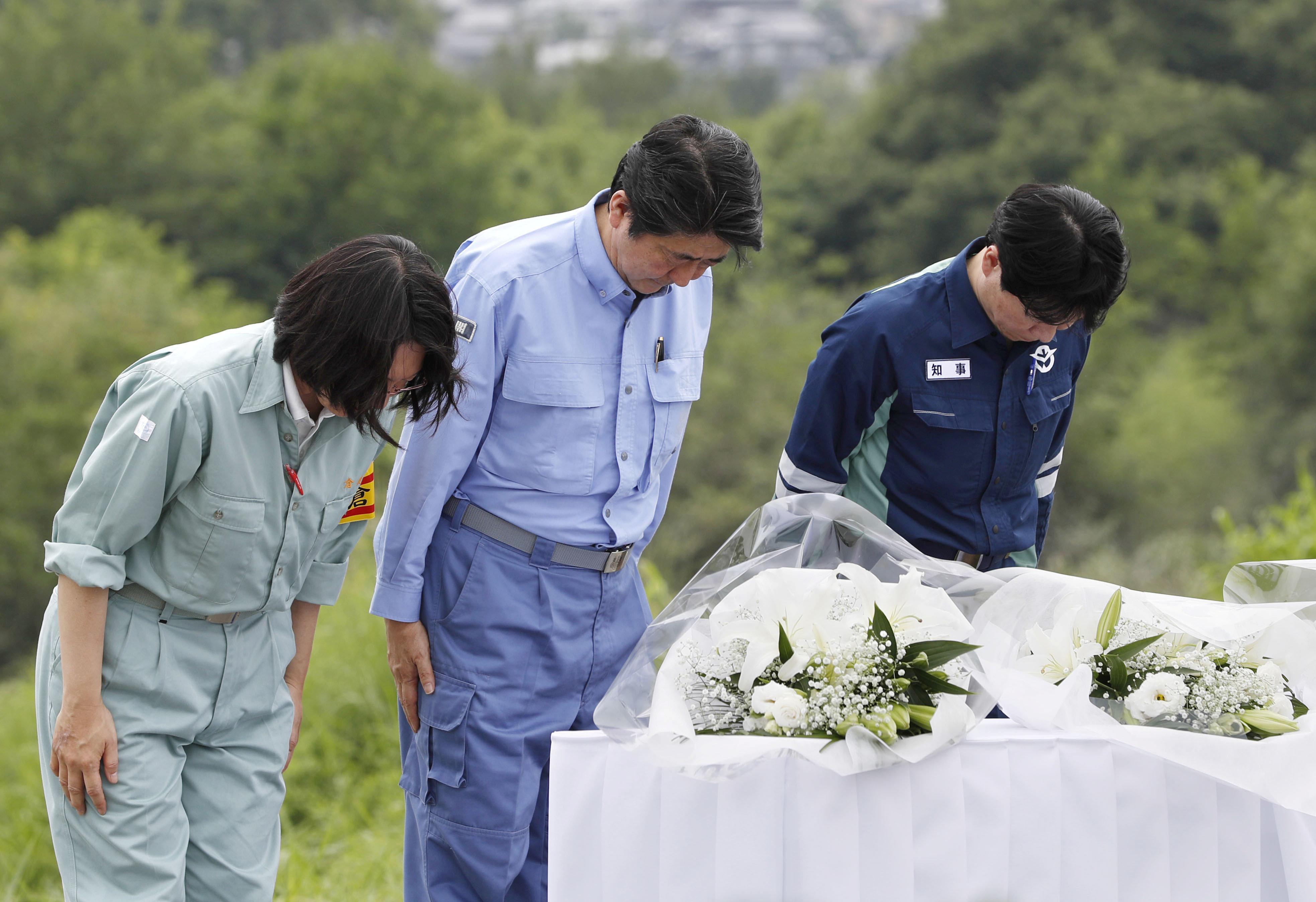 서일본 폭우 사망자가 200명을 넘겼고 아직 20명의 실종자가