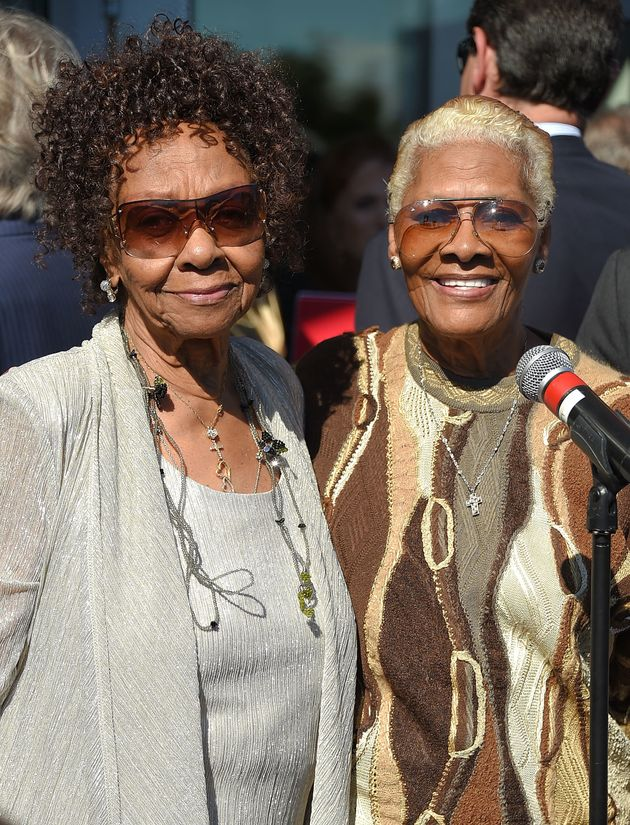 Cissy Houston (L) and niece Dionne