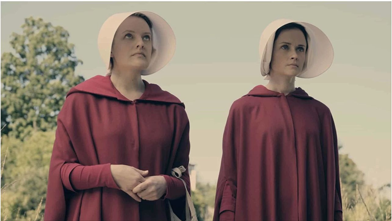 "Elisabeth Moss and Alexis Bledel in ""The Handmaid's Tale."""