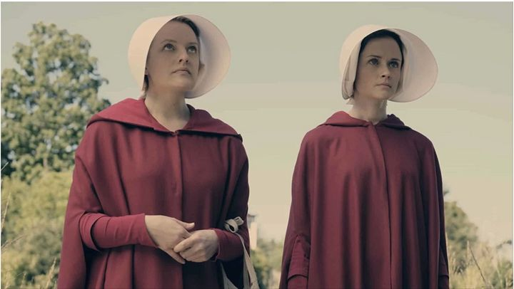 """Elisabeth Moss and Alexis Bledel in """"The Handmaid's Tale."""""""