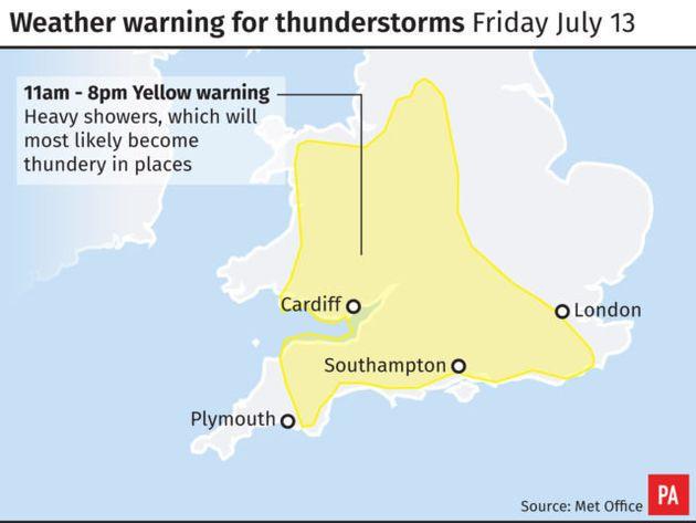 UK Weather Forecast: Thunderstorms Set To Break Up The