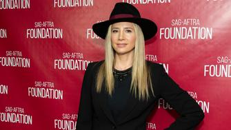 LOS ANGELES, CA - MAY 01:  Actress Mira Sorvino attends SAG-AFTRA Foundation Conversations with Mira Sorvino at SAG-AFTRA Foundation Screening Room on May 1, 2018 in Los Angeles, California.  (Photo by Vincent Sandoval/Getty Images)