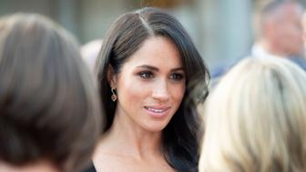 Britain's Meghan, Duchess of Sussex, attends a reception at Glencairn, the residence of Robin Barnett, the British Ambassador to Ireland at the start of a two-day visit to Dublin, Ireland July 10, 2018. Photo taken on July 10, 2018.  Geoff Pugh/Pool via REUTERS